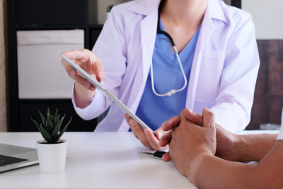 Doctor explain to patient in the medical clinic or hospital